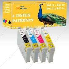 4x non-original compatible Ink cartridges for Epson Stylus D120 DX4000 DX4050