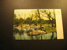 Lake in Allegheny Park, Pittsburgh, Pa., about 1907, used postcard