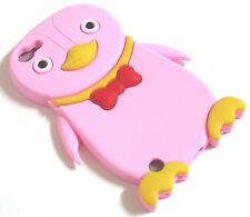 iPod Touch 5 5th Animal 3D Happy Penguin Soft Skin Silicone Rubber Case Cover