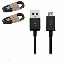 Pack Of 2 Black USB Micro Sync Cable Charger For Amazon Kindle Fire Wifi Kindle