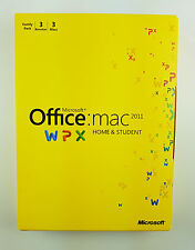 Office Mac 2011 Home and Student Family Pack 3 USER Deutsch DVD W7F-00017