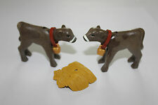 Playmobil Tiere 2 Kälber  Pferde Zoo