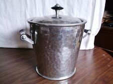 Vintage Hammered Aluminum Ice Bucket, Thermal MMM SA Made in Spain