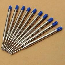 10 Recambios Bolígrafos Azul Relleno Mediano Para Parker Estilo Tinta Ballpoint