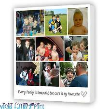 "LOVELY 20""x20"" COLLAGE CANVAS PERSONALISED PHOTO GIFT BIRTHDAY FAMILY GIFT"