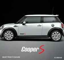 MINI COOPER S Side Stripe Sticker Decal 2 Tone Graphic - High Quality Vinyl