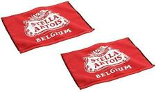 STELLA ARTOIS 2 WOVEN COTTON TERRY BEER BAR GOLF TOWEL 16x11 NEW
