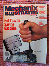 Mechanix Illustrated Mag, tips on saving gas, 1980 cars  July 1979