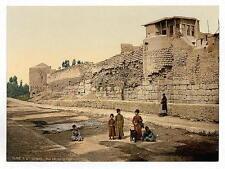 Mur sur lequel St Paul échappé Damas A4 papier photo