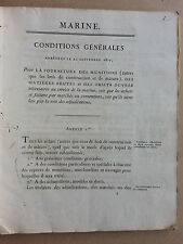fourniture munitions de marine 1823 +copies manuscrites administration