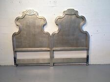 king headboard hollywood regency silver leaf dixon powdermaker rucker industries