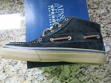 NEW SPERRY TOP-SIDER BAHAMA CHUKKA BOOTS SHOE BOOTS SHOES MENS 9 BLACK SUEDE