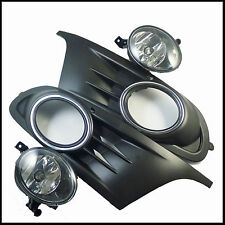 Set Front Bumper Fog Lights Lamps for 2010-2015 VW Jetta 4 Door Sport New