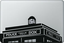 Apple MacBook Air Pro + POLICE BOX + Aufkleber Sticker Skin Decal Polizei London