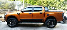 MATTE BLACK SIDE DOOR BODY CLADDING FORD RANGER 4 DOOR T6 MK2 FACELIFT 2012-2016