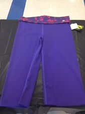 Women's Capri Pants License Zumba Apparel Purple 2XL