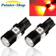2X Red T10 High Power 5W Car  Map Dome Cargo LED Lights 12V 168 W5W US