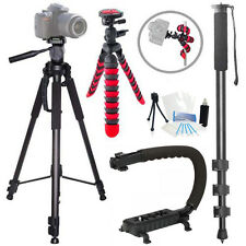 Action Tripod Holiday Bundle for Canon 700D 1000D M SL1 T1i T2i T3 T3i T4i T5i