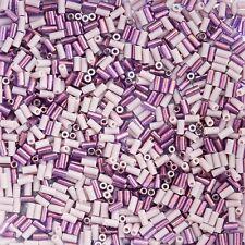 Miyuki 3mm Japanese Bugle Size 1/0 Seed Beads Mix Lilacs 10g (C28/11)