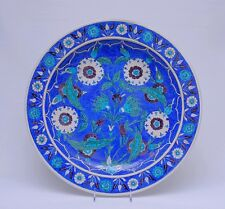 Important plat Théodore DECK / decor Iznik / 48 cm