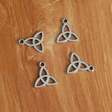 30 Celtic Knot Charms Irish Trinity Triquetra Charm Antique Silver Two Sided Hot