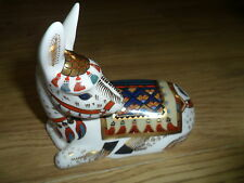 "Royal crown derby chardon ""donkey annuel paperweight, ltd/ed 1500, or bouchon"