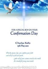 Personalised Boy Confirmation Card Design 2