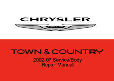 Chrysler Town & Country 2002 - 2007 Service Repair Workshop Factory Manual Disc