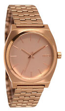 Nixon A045897 Time Teller All Rose Gold Analog Steel Bracelet Watch New
