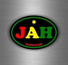 Sticker car decal rasta reggae JAH macbook lion of judah one love rastafarai r9