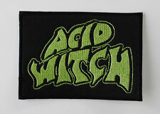 ACID WITCH EMBROIDERED PATCH COFFINS HOODED MENACE ASPHYX AMOSPHIS