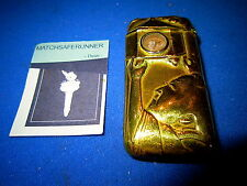 C. 1890 JAPANESE LANTERN & COMPASS MATCH HOLDER VESTA CASE MATCH SAFE STRIKER