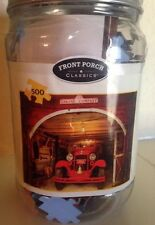 Front Porch Classic Engine Company 33 Firehouse Puzzle in Mason Jar: 500 Piece
