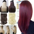 UK seller One piece 3/4 Full Head Clip In on Hair Extensions real as human hair