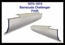 1970 1971 1972 1973 1974 DODGE CHALLENGER PLYMOUTH BARRACUDA  ROCKER PANELS PAIR