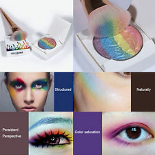 2016 New beauty rainbow highlight prism Eye shadow Palette Shimmer Makeup Powder