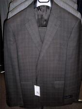 Mens Ermenegildo Zegna Brown Plaid Suit 42 Regular BEAUTIFUL! NWT