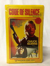 CODE OF SILENCE / VHS / CHUCK NORRIS / ACTION / RATED R / ORIGINAL BIG BOX COVER