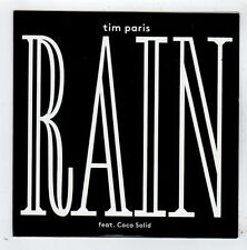 (FY950) Tim Paris, Rain ft Coco Solid - 2013 DJ CD