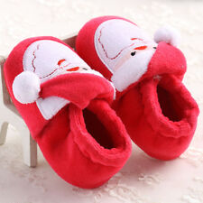 Infant Newborn Cartoon Cute Santa Claus Soft Baby Girl Boys Prewalker Shoes 12☆