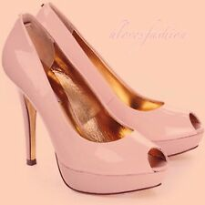 ✨��TED BAKER Nude Pink Patent Leather High Heel Shoes UK 6 EU 39 US 8 FAST����✨