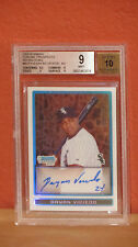 2009 Bowman Chrome Refractor Dayan Viciedo Autographed Rookie Card BGS 9 Auto 10