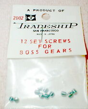 12) Original Slot Head Set Screws for all Metal Gears NOS See Pic Vintage 1960's