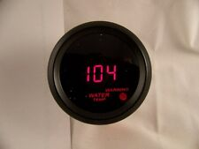 """2"""" Digital Water Temperature Gauge Black with Red LED with sending unit"""