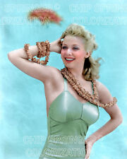 CAROLE LANDIS Bathing Suit & Hawaiian Lei Sexy Cheesecake COLOR by CHIP SPRINGER