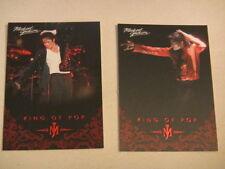 Michael Jackson - No 20 -& 50 - 2 Panini Trading Cards 2011 *RARE* aus USA