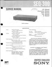 Sony Original Service Manual  für SEQ-300