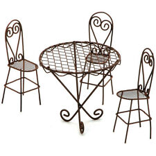 Timeless Miniatures-Wire Garden Table & Chairs Set