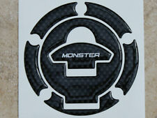 Petrol Fuel  Filler Cap Pad Carbon Fibre effect Cover To Fit Ducati Monster