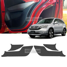 Carbon Door Decal Sticker Cover Kick Protector For HONDA 2007 - 2011 CR-V